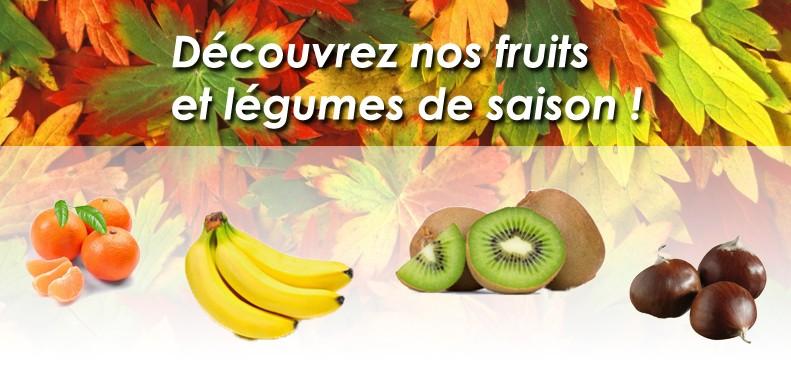 Découvrez nos fruits et Légumes de saison !